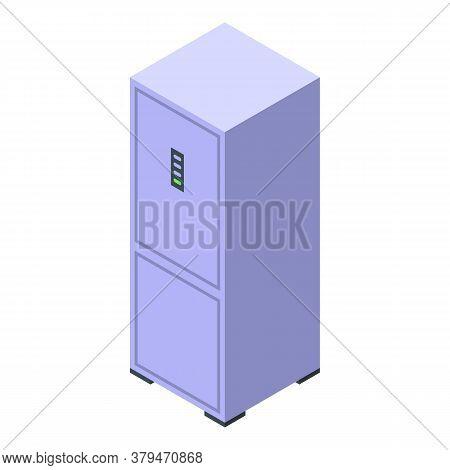 Fridge Food Storage Icon. Isometric Of Fridge Food Storage Vector Icon For Web Design Isolated On Wh