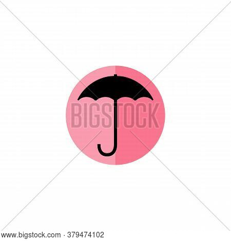 Umbrella Icon With Colored Circle Isolated On White Background. Umbrella Icon Trendy And Modern Umbr