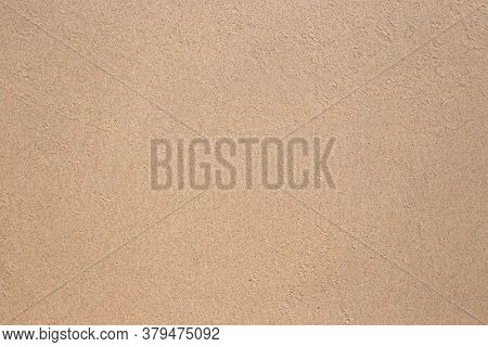 Wet Sand On The Coastline, Natural Clean Beige Light Background, Texture.place For Text, Template