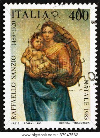 Postage stamp Italy 1983 Sistine Madonna, by Raphael