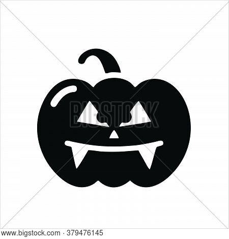 Pumpkin Icon Isolated On White Background From Halloween Collection. Pumpkin Icon Trendy And Modern