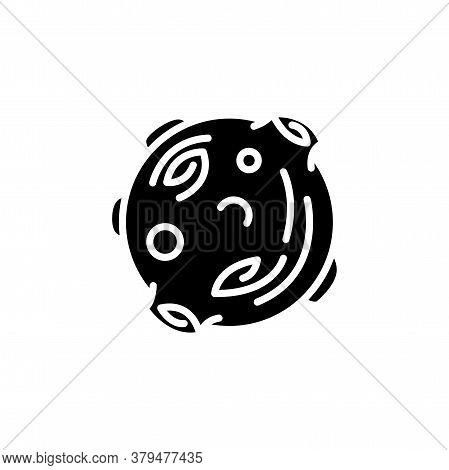 Moon Astronomical Body Icon Vector. Moon Astronomical Body