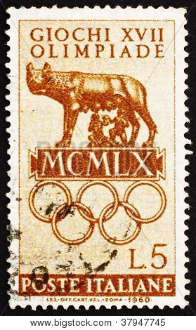 Postage stamp Italy 1960 The Capitoline Wolf