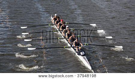 BOSTON - OCTOBER 21: Eton Boat Club races in the Head of Charles Regatta, Marin Rowing Association w
