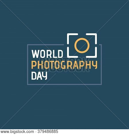 Vector Illustration On The Theme Of World Photography Day On August 19. Decorated Photography Icon.