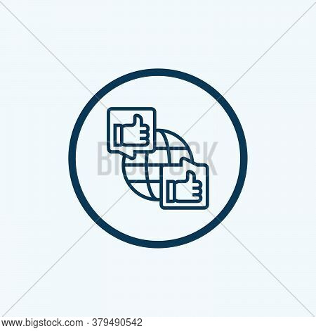 Like Icon Isolated On White Background From Feedback And Testimonials Collection. Like Icon Trendy A