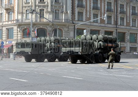 Moscow, Russia - June 20, 2020:transport-loading Installation Of The Coastal Missile System ` Bal `