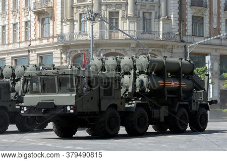 Moscow, Russia - June 20, 2020:transport-loading Installation Of The Coastal Missile System