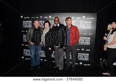 William Shatner And Kate Mulgrew And  Avery Brooks And Scott Bakula At Destination Star Trek In  Lon
