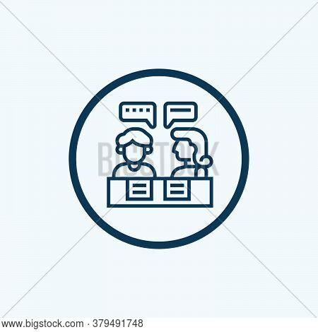 Consultant Icon Isolated On White Background From Communication And Media Collection. Consultant Ico