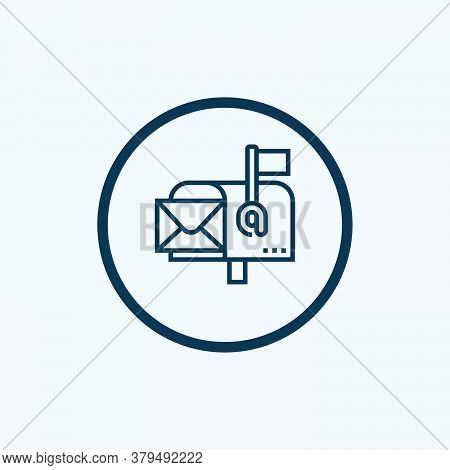 Mail Box Icon Isolated On White Background From Delivery Collection. Mail Box Icon Trendy And Modern