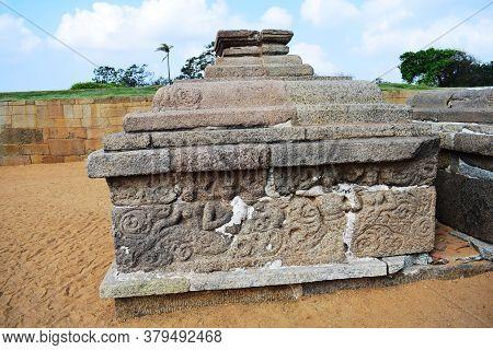 Mahabalipuram On 28 Dec 2019 : Arjuna's Penance A Large Rock Relief Carving In Mahabalipuram, Tamil