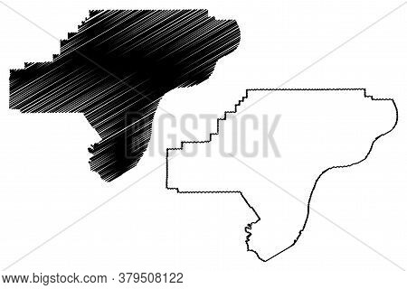 Clark County, Indiana (u.s. County, United States Of America, Usa, U.s., Us) Map Vector Illustration