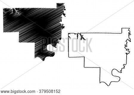 Crawford County, Indiana (u.s. County, United States Of America, Usa, U.s., Us) Map Vector Illustrat