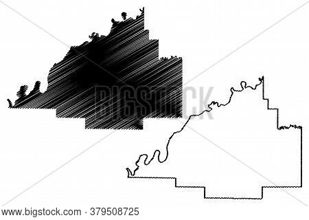 Gibson County, Indiana (u.s. County, United States Of America, Usa, U.s., Us) Map Vector Illustratio