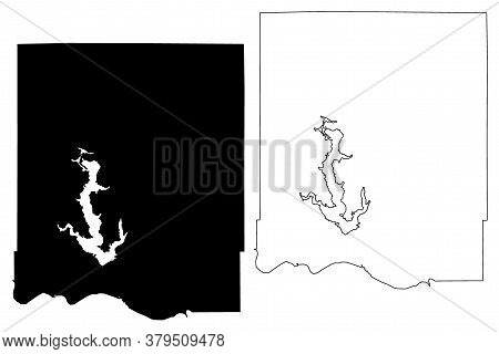Jefferson County, Kansas (u.s. County, United States Of America, Usa, U.s., Us) Map Vector Illustrat