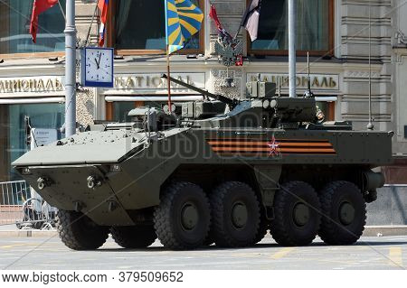 Moscow, Russia - June 20, 2020:russian Armored Personnel Carrier