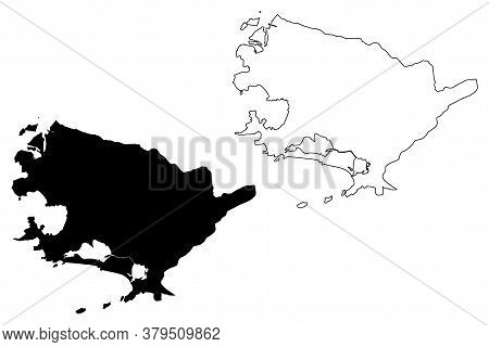 Niteroi City And Municipality (federative Republic Of Brazil, Rio De Janeiro State) Map Vector Illus