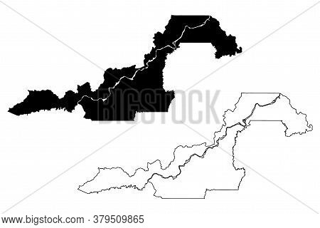 Porto Velho City And Municipality (federative Republic Of Brazil, Rondonia State) Map Vector Illustr