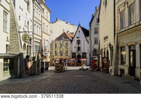 View To Tallinn Old Town Buildings From Town Hall Square