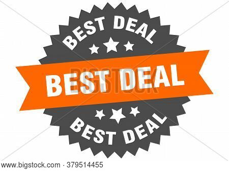 Best Deal Round Isolated Ribbon Label. Best Deal Sign