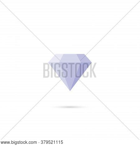 Diamond Icon Vector In Trendy Flat Style. Expensive Stone Symbol Illustration