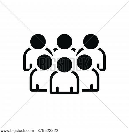 Black Solid Icon For Group Cluster Conglomeration Association Crowd Organization Troop