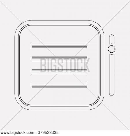 Text Content Icon Line Element. Vector Illustration Of Text Content Icon Line Isolated On Clean Back