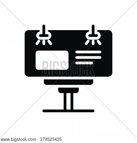 Black Solid Icon For Road-ad Road Ad Reclame Advertisement Street Billboard Banner