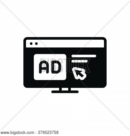 Black Solid Icon For Click-ad Click Ad Computer Mouse Advertisement Cursor Browser Device