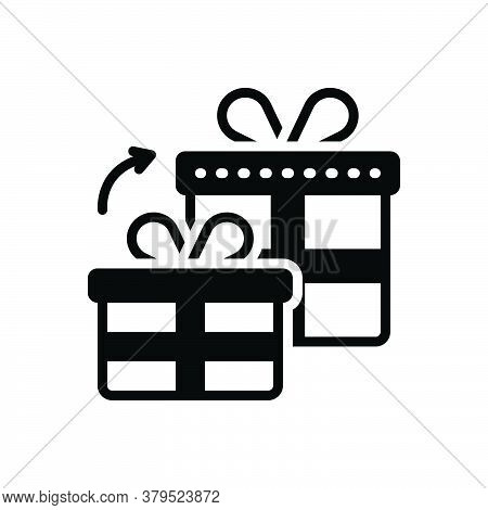 Black Solid Icon For Get-gifts Get Gifts Fairing Bounty Bonus Keepsake Benefit Giveaway Present Offe