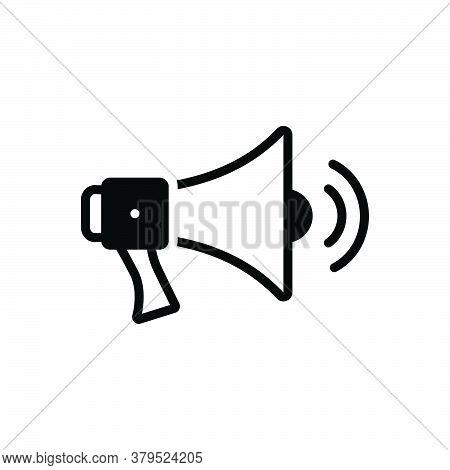 Black Solid Icon For Megaphone-with-sound-waves Megaphone Sound Waves Bullhorn Louder Speaker Volume
