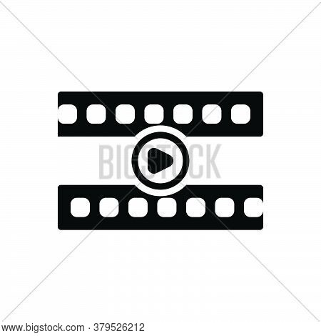 Black Solid Icon For Video-player Broadcast Recorded Demonstrate Player Display Broadcasting Streami
