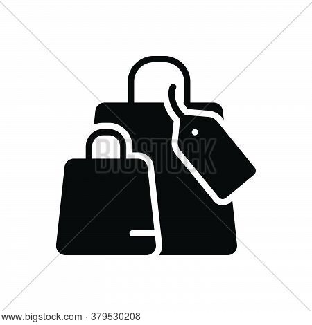 Black Solid Icon For Shopping-bag Shopping Bag Browsing Spending Purchasing Ecommerce Supermarket Ta