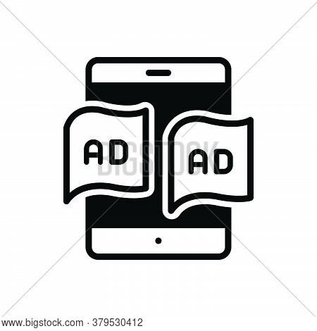 Black Solid Icon For Tablet-ad Tablet Ad Technology Advertisement Device Blurb Reclame Marketing Ele