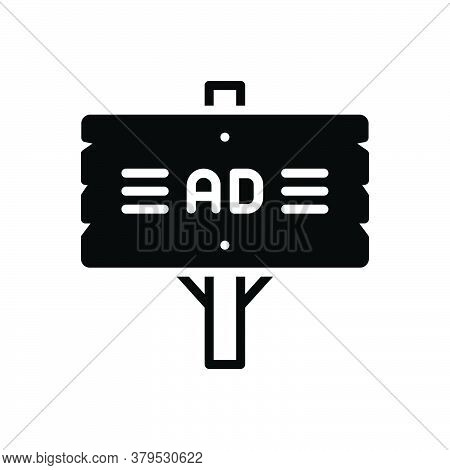 Black Solid Icon For Ad-plank Ad Plank Singpost  Advertisement Reclame Billboard Blurb Board Directi