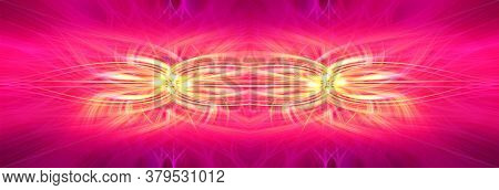 Beautiful Abstract Intertwined Symmetrical 3d Fibers Forming A Shape Of Sparkle, Flame, Flower, Inte