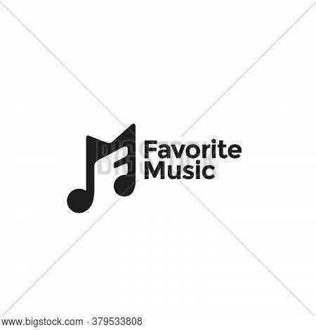 Letter M For Notation Song Music Logo Design