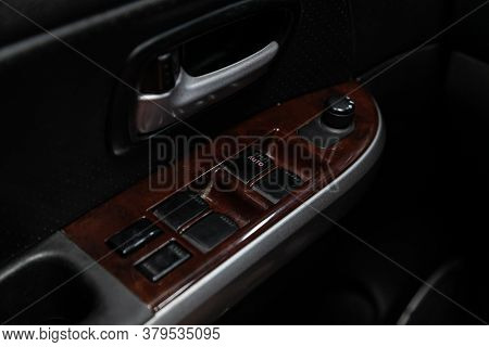 Novosibirsk/ Russia - August 01 2020: Suzuki Grand Vitara, Close Up Of A Door Control Panel In A New