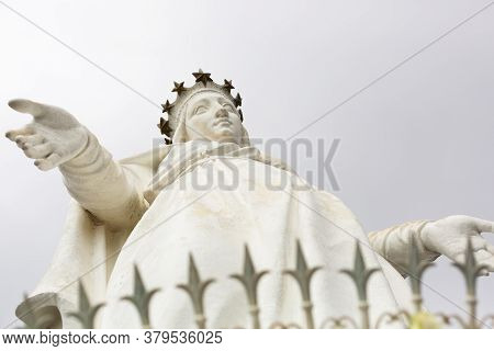 Harissa, Lebanon, August 05.2018: The Shrine Of Our Lady Of Lebanon. The Statue Of The Virgin Mary I