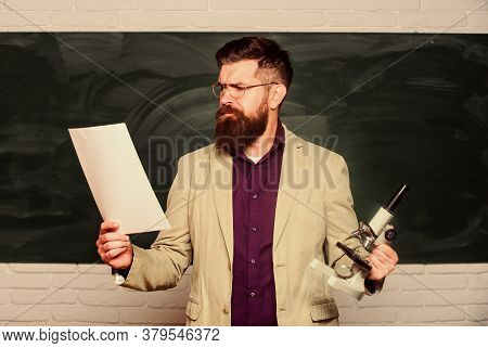 Biology Teacher Read Paper. Lecturer Read Project. Mature Man At School. Back To School. Remember Ho