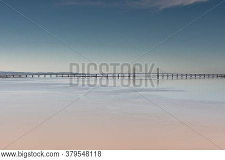 Prince Of Wales Suspension Bridge, Crossing The River Severn