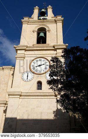 Valletta, Malta - Dec 31st, 2019: Exterior View Of Saint Johns Co-cathedral In Valletta