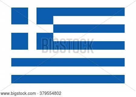Flag Of Greece. Simple Vector Illustration Of The Flag Of Greece Isolated On White Background