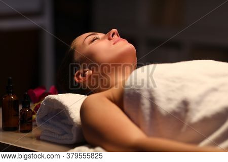Woman Supports The Vitality Of The Body And Strengthen Immunity In A Beauty Salon