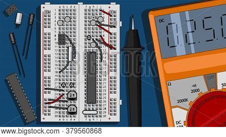 Electronics Components Kit Illustration