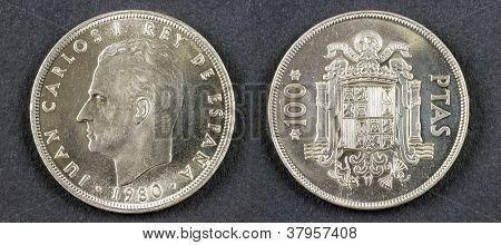Ancient Coin King Juan Carlos I