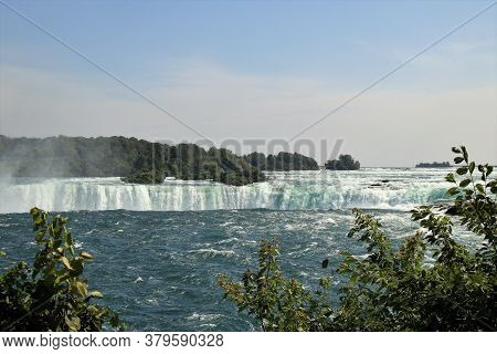Cascading Waters Of The Canadian Side Of Niagara Falls
