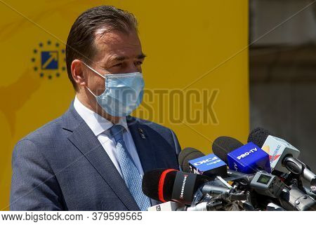 Bucharest, Romania - August 02, 2020: Ludovic Orban Makes Press Statements At The National Political