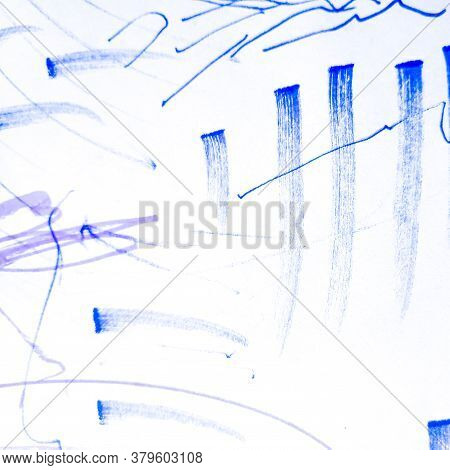 Brush Stroke Template. Marine Paintbrush Ink Artwork. Calligraphy Grungy Brushstroke Print. Backgrou